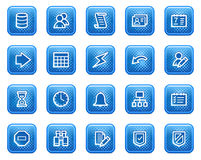 Database web icons Stock Image