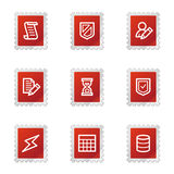 Database web icons Royalty Free Stock Images