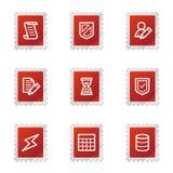 Database web icons Royalty Free Stock Images