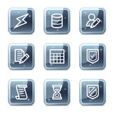 Database web icons Stock Photography