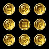 Database web icons Royalty Free Stock Photography