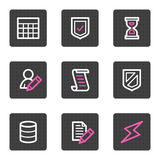 Database web icons Stock Photo