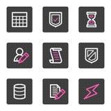 Database web icons Stock Photo