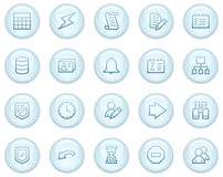 Database web icons Royalty Free Stock Image