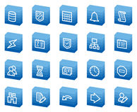 Database web icons, blue box series Stock Photos