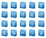 Database web icons, blue box series Stock Photos