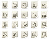 Database web icons, document series Royalty Free Stock Image