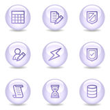 Database web icons, glossy pearl series Stock Photos