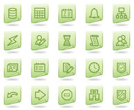 Database web icons, green document series Royalty Free Stock Image