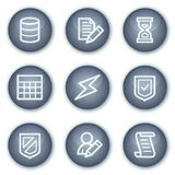Database web icons, mineral circle buttons series Stock Photography