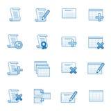 Database web icons set 1, blue series Royalty Free Stock Photography