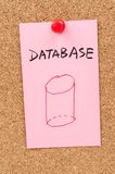 Database word and symbol Royalty Free Stock Photos