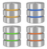 Databases icons set Stock Images