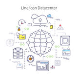 Datacenter线例证 免版税库存照片