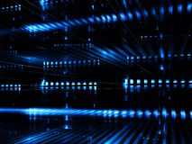 Datacenter abstrato - imagem digitalmente gerada Foto de Stock
