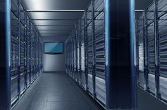 Datacenter Alley Royalty Free Stock Photo