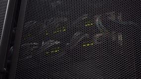 Datacenter, Arbeitsserver Server blinkendes datacener stock footage