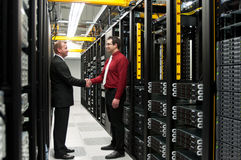 Datacenter avtal Arkivfoton