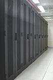 Datacenter - clean row of racks Royalty Free Stock Image
