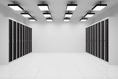 Datacenter with copyspace Royalty Free Stock Image