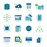 Datacenter Flat Icon Set stock illustration