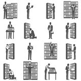Datacenter Icons Set Stock Images