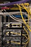 datacenter ii机架后方 免版税库存图片