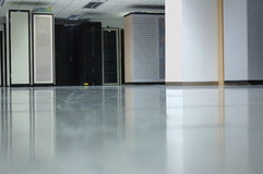 Datacenter interior #2. The interior of a computer datacenter Stock Images