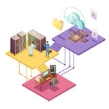 Datacenter Isometric Illustration Royalty Free Stock Photo