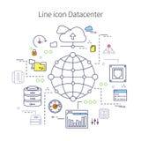 Datacenter Line Illustration royalty free illustration