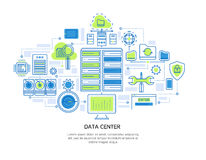 Datacenter Linear Design Stock Images