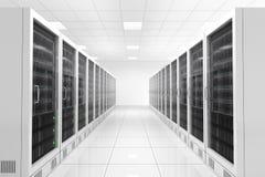 Datacenter met twee rijen vector illustratie
