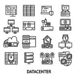 Datacenter Monochrome Icons Set Royalty Free Stock Photos