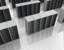 Datacenter : pièce de serveur avec des batteries de serveur Photographie stock