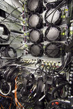 Datacenter rack rear Stock Images