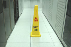 Datacenter safety. Royalty Free Stock Photo