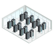 Datacenter Server Room Interior Royalty Free Stock Image