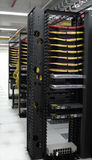 Datacenter: Soluzioni di KVM all'estremità di riga Fotografie Stock Libere da Diritti