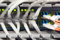 Datacenter switch Stock Image