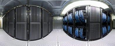 datacenterpanorama Royaltyfri Bild