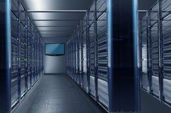 Datacentersteeg royalty-vrije illustratie