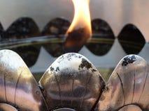 Datail för olje- lampa arkivfoto