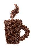datalista för bönakaffekopp Royaltyfria Bilder