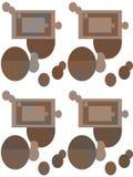 datalistor konst abstrakt teckning Sömlöst tryck Tapet tygdesign Modellstil Bakgrund stock illustrationer