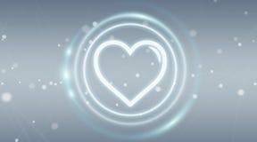 Datando a aplicação conecte para encontrar a rendição 3D em linha do amor ilustração stock