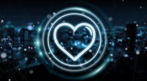 Datando a aplicação conecte para encontrar a rendição 3D em linha do amor ilustração royalty free
