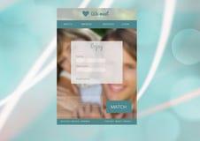 Datando a relação do App imagens de stock royalty free