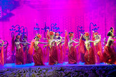 Datang Yueji--Historische van de stijllied en dans drama magische magisch - Gan Po Royalty-vrije Stock Foto's