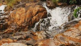 Datanla vattenfall i DaLat, Vietnam lager videofilmer