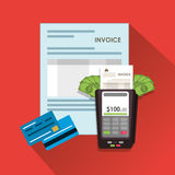Dataphone credit card document paymet financial item icon. vector Royalty Free Stock Photography